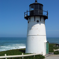 The Point Montara Lighthouse, CA, established 1900, present light constructed 1923.