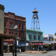 Downtown Placerville, California, an historic gold mining town formerly known as