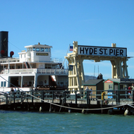 The San Francisco Maritime National Historical Park at the Hyde Street Pier, San Francisco.