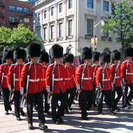 The changing of the guard at the Canadian Parliament.