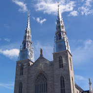 The Cathedral-Basilica of Notre Dame in Ottawa.