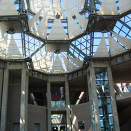 The atrium interior of the National Gallery of Art, Ottawa, Ontario.