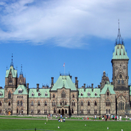 The East Block of the Canadian Parliament.