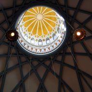 A view up into the dome of the Library of Parliament, Ottawa, Canada.