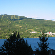 Mont Tremblant, with the Mont Tremblant resort at its base.