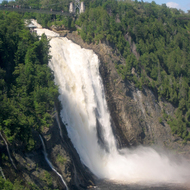 Montmorency Falls, from the gondola that takes you to the top.