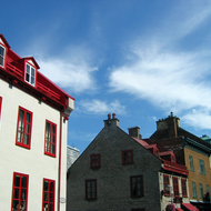 A typical street scene in old town Quebec.