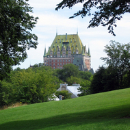 The Fairmont le Chateau Frontenac from La Citadelle.