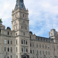 The Hotel du Parlement (Parliament) of Quebec.