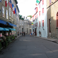 A street in old town Quebec.