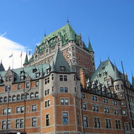 A view of the Fairmont le Chateau Frontenac.