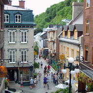 The lower town of old town Quebec.