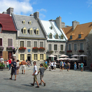 The Place Royale in the lower town of old town Quebec.
