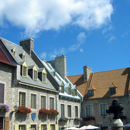 The Place Royale in the Quartier Petit-Champlain (lower old town) of Quebec City.
