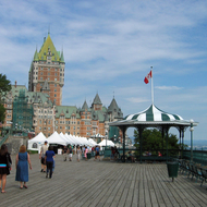 The Fairmont le Chateau Frontenac from the Terrasse Dufferin.