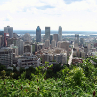 The view from the Chalet at Mount Royal Park in Montreal.