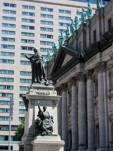 Thumbnail image ofThe Marie-Reine-du-Monde Cathedral in Montreal.