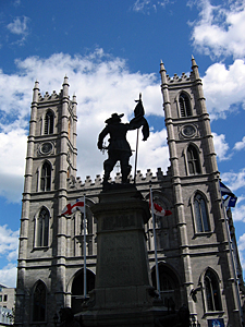 Thumbnail image ofA view of the Notre-Dame Basilica from the Place...