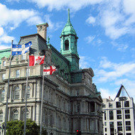 The Hotel de Ville of Montreal.