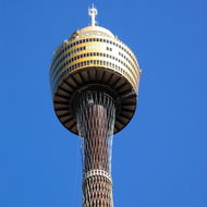 The 305-metre tall Sydney Tower at city center.