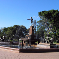 The Archibald Memorial Fountain in Hyde Park by Francois Sicard (Parisian sculptor), in downtown Sydney, Australia, erected in 1932.