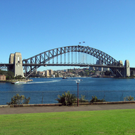 The Sydney Harbour Bridge.