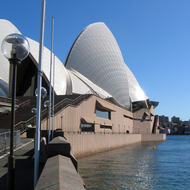 A view of the Sydney Opera House.