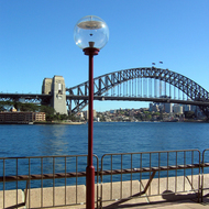 The Sydney Harbour Bridge from near the Sydney Opera House.