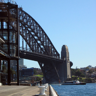 The Sydney Harbour Bridge from Overseas Passenger Terminal at Sydney Cove.