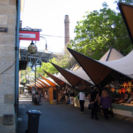The open air market at
