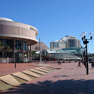 The Sydney Convention Center and Harbourside, at Darling Harbour, Sydney.