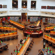 The central reading room of the State Library of Victoria, Melbourne.