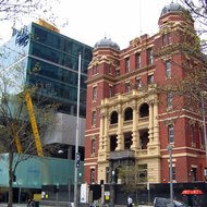 The former Queen Victoria Memorial Hospital (it now houses a Women's Centre), founded in 1896 in Melbourne.