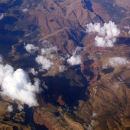 An aerial view of the Green River.