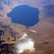 An aerial view of Walker Lake, near Hawthorne, Nevada.