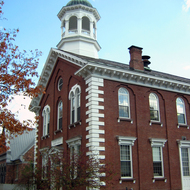 The Windsor County court house in Woodstock, Vermont.