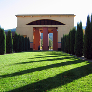 Clos Pegase Winery in the Napa Valley, California, near Calistoga.