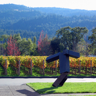 Art at the Clos Pegase Winery in the Napa Valley, California, near Calistoga.