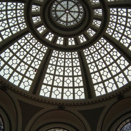 The dome of the Westfield San Francisco Centre shopping center.