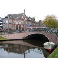 A canal in Leiden, The Netherlands.