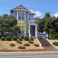 A Victorian style home in Lakeport, California.