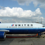 A United Airlines airplane at O'Hare International Airport in Chicago, Illinois.