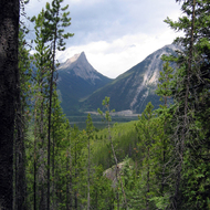 A view of the Bow River Valley from the Sundance Canyon Trail in Banff National Park.