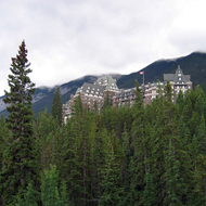 The Banff Springs Hotel in Banff National Park.
