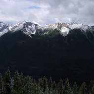 A view of the Sundance Range from Sulphur Mountain in Banff National Park.