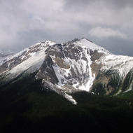 Mount Brett from Sulphur Mountain in Banff National Park.