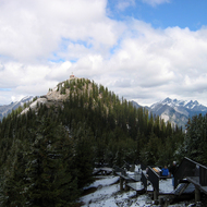 The Sulphur Mountain Lookout in Banff National Park.