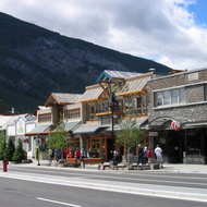 Downtown Banff in July 2008.