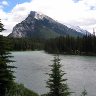 The Bow River in Banff National Park.