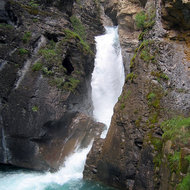The Lower Falls of Johnston Creek in Johnston Canyon, Banff National Park.